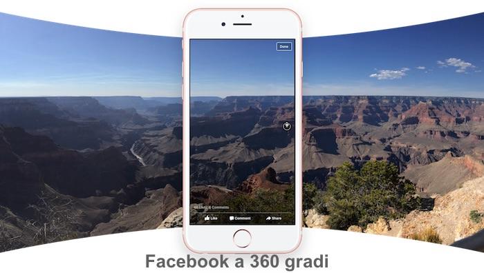 Facebook, come caricare foto a 360 gradi