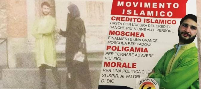 La bufala, trollata o esperimento sociale del Movimento Islamico a Padova